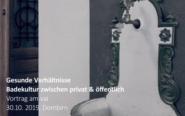 <b>Gesunde Verhältnisse   Badekultur zwischen privat & öffentlich</b> • © Foto: Tina Eitzenberger-Sedelmaier